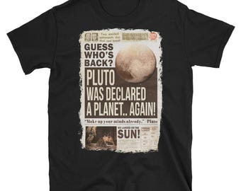 Pluto Tee, Pluto Shirt, Pluto Never Forget, Disney Pluto Shirt, Pluto T-Shirt, Pluto Planet Shirt, Pluto Is A Planet, Pluto Planet