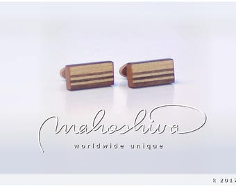 wooden cuff links wood walnut maple handmade unique exclusive limited jewelry - mahoshiva k 2017-14