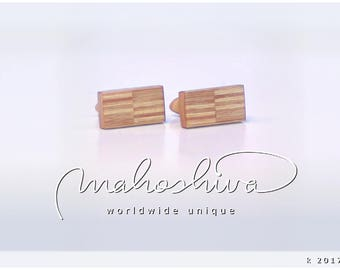 wooden cuff links wood alder maple handmade unique exclusive limited jewelry - mahoshiva k 2017-21