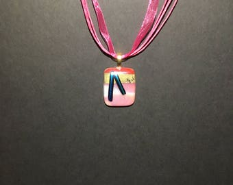 Fused Glass Pendant Necklace , perfect for Mothers Day