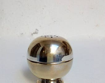 Vintage Pepper or Salt Shaker in Silver Cone.