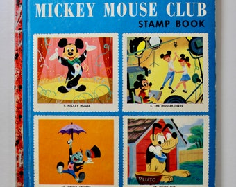 Vintage Walt Disney Little Golden Book  No.A10 Mickey Mouse Club Stamp Book 1st edition