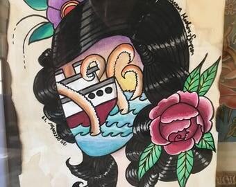Lady Head Sea Monster