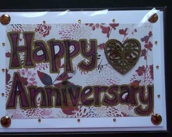 Handmade card: Happy Anniversary