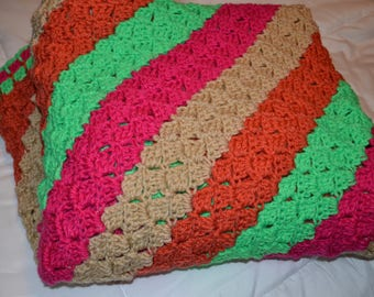 Brightly Colored Crochet Afghan