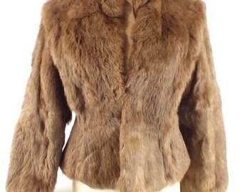 Vintage Rabbit Fur Coat Size S
