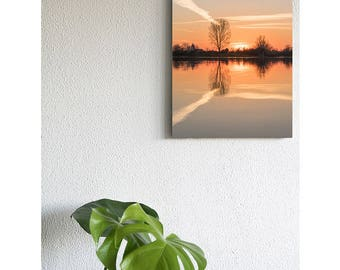 Sunset reflection on Canvas