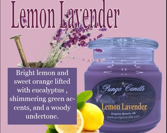 Lemon Lavender Scented Jar Candle (16 oz.)!