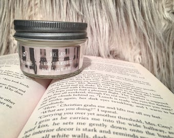 Mrs. Grey - 4 oz Bookish Soy Candle - Fifty Shades Freed - Wilted Wicks