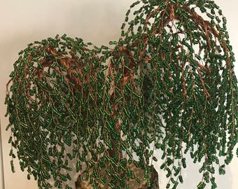 Copper and beads 36cm Weeping Willow