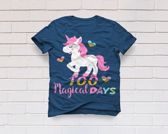 Unicorn svg, 100 magical days svg, 100 days svg, 100th day of school svg, School svg, Kindergarten svg, SVG, DXF, eps, png pdf, Teacher svg
