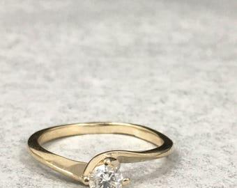 14KT Ladies Diamond Engagement Ring .25ct  Size 5 3/4