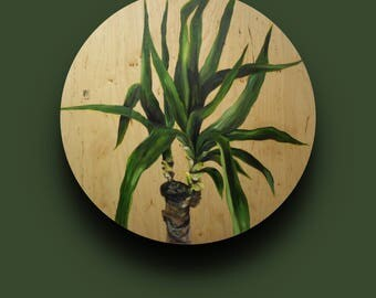 Oil on plywood, 60cm, plant & nature
