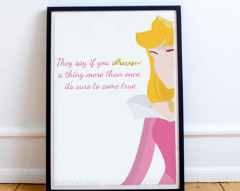 Princess Aurora illustration Print/Poster-A4