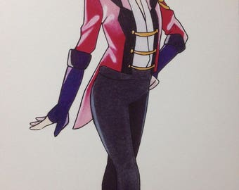 Yuri!!! on Ice Victor Nikiforov, Anime Manga Fanart Drawing Print