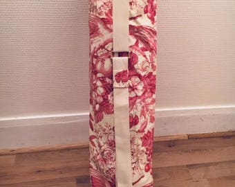 French toile de Jouy yoga/gym mat bag