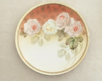 Collectible Plate RS Germany with Cottage Roses
