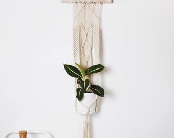 Braided Macrame Plant Hanger/ Plant holder/ Hanging planter/ Braided cotton cord/ Modern macrame/ Home decor/ Macrame Plant Hanger
