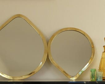 Drop shaped mirror gold