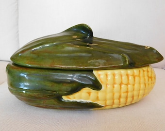 Large Vintage Corn Casserole Dish
