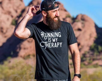 Running is my Therapy Triblend T-shirt - Men's - Black