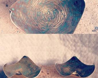 Ring dish, patina brass
