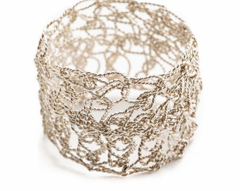 Italian handmade silver ring.