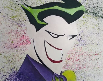 Comic Joker picture on canvas hand painted 50cmx40cm