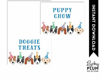 Dog Food Tent Card / Puppy Food Tent Card / Dog Place Card / Puppy Place Card / Doggie Food Tent Card / Canine DIY Printable DG01