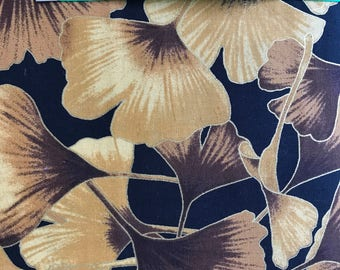 Ginkgo Leaves cotton fabric by the yard - 100% Kona Cotton -Kona Bay fabrics - Ginkgo - Tone It Up Tone -08 Gold