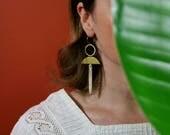 Statement Earrings, Bold Earrings, Geometric Earrings, Dagger Earrings, Gif for Her, SWORD