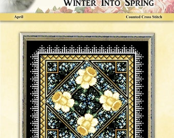 Winter Into Spring April Counted Cross Stitch Pattern by Pamela Kellogg
