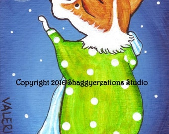 PEMBROKE WELSH CORGI  Art Print Corgi Wish Upon A Star ~ Corgi Art Print Snow Christmas Star Dog Art  Dog Lovers Gift Holiday Dog Art Print