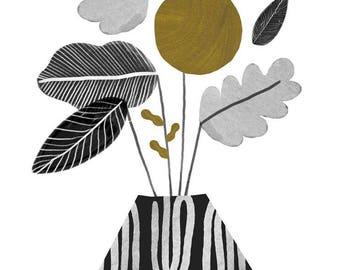 Volcano Vase / Art Print / A3 A4 A5