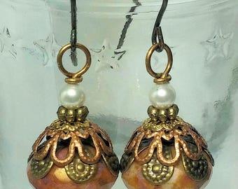 Butter Toffee -- earrings