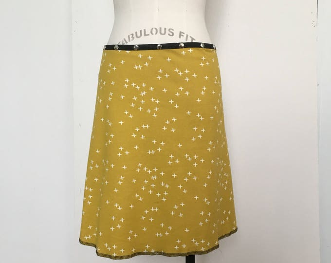 Wrap Skirt, Snap Skirt, Snap Around Skirt by Erin MacLeod, Yellow skirt, Adjustable Skirt, Cute Skirt