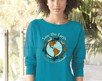 Planet Dachshund Ladies Sweatshirt