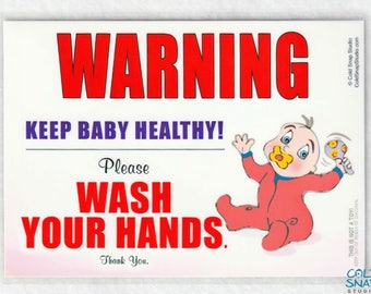 Wash Your Hands Baby Girl Sign