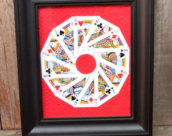 Framed Playing Card Collage