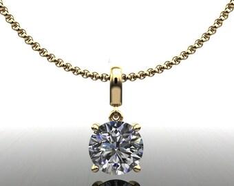 shiya pendant - 3 carat NEO moissanite necklace, 3 carat moissanite necklace