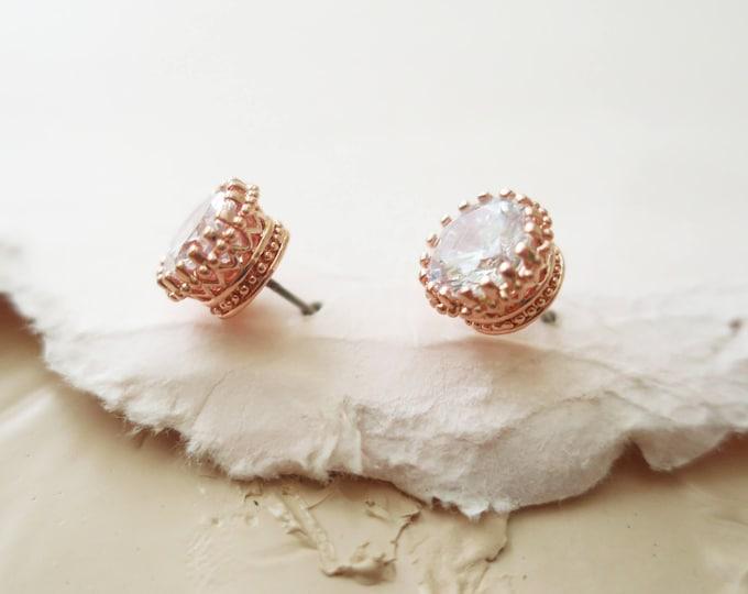 9mm Cubic Zirconia Earrings