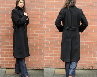Medium, Black Winter Coat, Long Winter Coat, Long Wool Coat, Long Black Coat, Black Wool Coat, Full Length Coat, JG HOOK Coat, USA, Classic