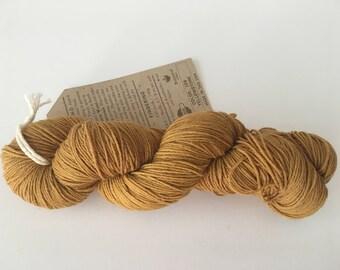Gold sock yarn - destash - sock yarn - Free Shipping