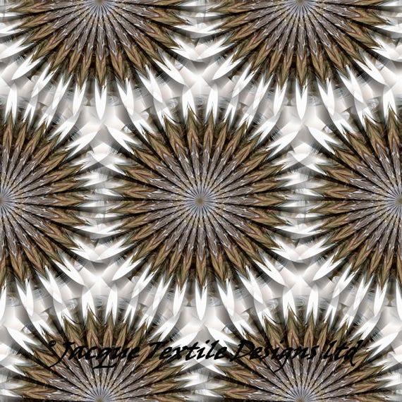UNIQUE Handmade Kaleidoscope Velvet Upholstery Fabric Shimmer Fiber Art Fabric