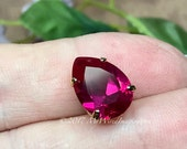Ruby, 14x10mm Pear Shape,...