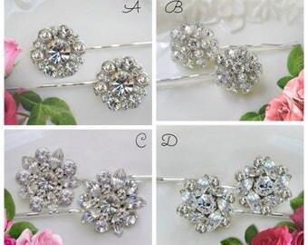 Choose 2, Bridal hair accessory, Crystal hair pin, wedding bobby pin, bridal hair clip, bridesmaids gift, Wedding hair pin, Bridal Hair Clip