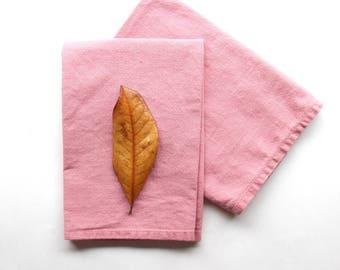 the Essentials Reusable Cloth Napkins - Blush Pink - Washable Eco Friendly Cotton Napkins - Pink Dish Linens - Kitchen Textiles