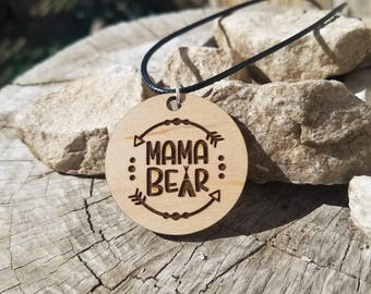 Mama Bear pendant Necklace