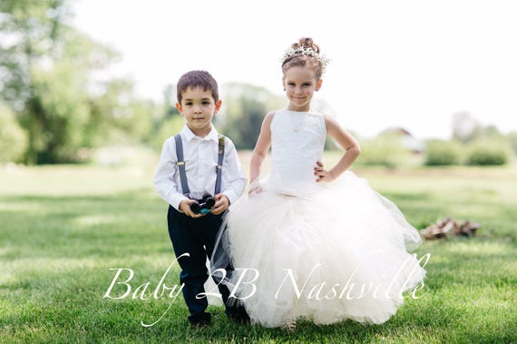 Vintage Dress Ivory Dress Lace Dress Tulle Dress Flower Girl Dress  Wedding Dress Birthday Dress Party Dress Toddler Tutu Dress Girls Dress