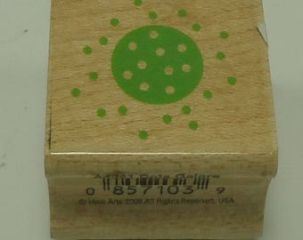 Circle And Dots Wood Mounted Rubber Stamp By Hero Arts A4241 Dots Galore